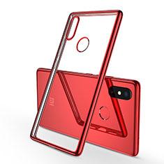 Silikon Schutzhülle Ultra Dünn Tasche Durchsichtig Transparent H01 für Xiaomi Mi 8 SE Rot