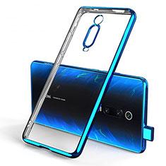 Silikon Schutzhülle Ultra Dünn Tasche Durchsichtig Transparent H01 für Xiaomi Mi 9T Pro Blau
