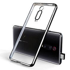 Silikon Schutzhülle Ultra Dünn Tasche Durchsichtig Transparent H01 für Xiaomi Mi 9T Schwarz