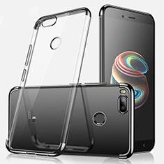 Silikon Schutzhülle Ultra Dünn Tasche Durchsichtig Transparent H01 für Xiaomi Mi A1 Schwarz