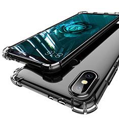 Silikon Schutzhülle Ultra Dünn Tasche Durchsichtig Transparent H01 für Xiaomi Mi A2 Grau