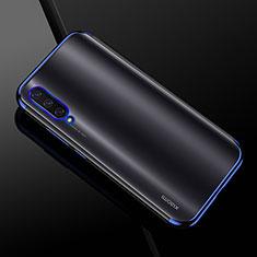 Silikon Schutzhülle Ultra Dünn Tasche Durchsichtig Transparent H01 für Xiaomi Mi A3 Blau
