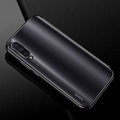Silikon Schutzhülle Ultra Dünn Tasche Durchsichtig Transparent H01 für Xiaomi Mi A3 Schwarz