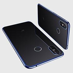 Silikon Schutzhülle Ultra Dünn Tasche Durchsichtig Transparent H01 für Xiaomi Mi Max 3 Blau