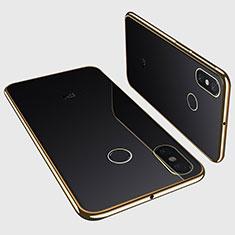 Silikon Schutzhülle Ultra Dünn Tasche Durchsichtig Transparent H01 für Xiaomi Mi Max 3 Gold