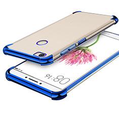 Silikon Schutzhülle Ultra Dünn Tasche Durchsichtig Transparent H01 für Xiaomi Mi Max Blau