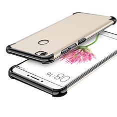 Silikon Schutzhülle Ultra Dünn Tasche Durchsichtig Transparent H01 für Xiaomi Mi Max Schwarz