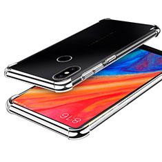 Silikon Schutzhülle Ultra Dünn Tasche Durchsichtig Transparent H01 für Xiaomi Mi Mix 2S Silber