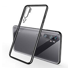 Silikon Schutzhülle Ultra Dünn Tasche Durchsichtig Transparent H01 für Xiaomi Mi Note 10 Schwarz