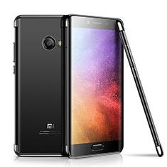 Silikon Schutzhülle Ultra Dünn Tasche Durchsichtig Transparent H01 für Xiaomi Mi Note 2 Special Edition Schwarz
