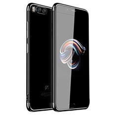 Silikon Schutzhülle Ultra Dünn Tasche Durchsichtig Transparent H01 für Xiaomi Mi Note 3 Schwarz