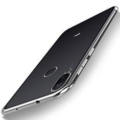Silikon Schutzhülle Ultra Dünn Tasche Durchsichtig Transparent H01 für Xiaomi Mi Play 4G Silber