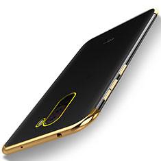 Silikon Schutzhülle Ultra Dünn Tasche Durchsichtig Transparent H01 für Xiaomi Pocophone F1 Gold