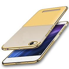 Silikon Schutzhülle Ultra Dünn Tasche Durchsichtig Transparent H01 für Xiaomi Redmi 4A Gold