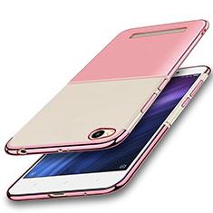 Silikon Schutzhülle Ultra Dünn Tasche Durchsichtig Transparent H01 für Xiaomi Redmi 4A Rosa