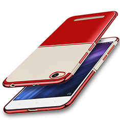 Silikon Schutzhülle Ultra Dünn Tasche Durchsichtig Transparent H01 für Xiaomi Redmi 4A Rot
