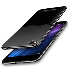 Silikon Schutzhülle Ultra Dünn Tasche Durchsichtig Transparent H01 für Xiaomi Redmi 4A Schwarz
