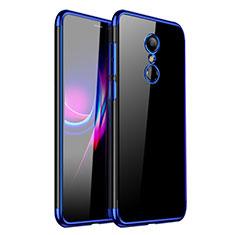 Silikon Schutzhülle Ultra Dünn Tasche Durchsichtig Transparent H01 für Xiaomi Redmi 5 Blau