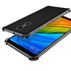 Silikon Schutzhülle Ultra Dünn Tasche Durchsichtig Transparent H01 für Xiaomi Redmi 5 Plus Schwarz