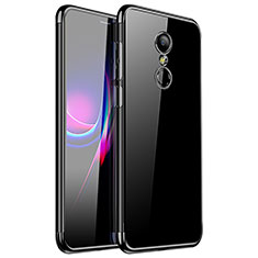 Silikon Schutzhülle Ultra Dünn Tasche Durchsichtig Transparent H01 für Xiaomi Redmi 5 Schwarz