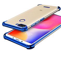 Silikon Schutzhülle Ultra Dünn Tasche Durchsichtig Transparent H01 für Xiaomi Redmi 6 Blau