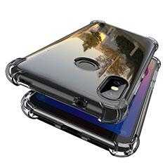 Silikon Schutzhülle Ultra Dünn Tasche Durchsichtig Transparent H01 für Xiaomi Redmi 6 Pro Grau