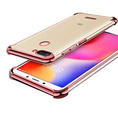 Silikon Schutzhülle Ultra Dünn Tasche Durchsichtig Transparent H01 für Xiaomi Redmi 6 Rosegold