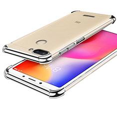 Silikon Schutzhülle Ultra Dünn Tasche Durchsichtig Transparent H01 für Xiaomi Redmi 6 Silber