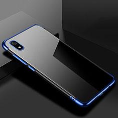 Silikon Schutzhülle Ultra Dünn Tasche Durchsichtig Transparent H01 für Xiaomi Redmi 7A Blau
