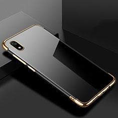 Silikon Schutzhülle Ultra Dünn Tasche Durchsichtig Transparent H01 für Xiaomi Redmi 7A Gold