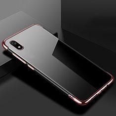 Silikon Schutzhülle Ultra Dünn Tasche Durchsichtig Transparent H01 für Xiaomi Redmi 7A Rosegold