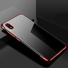 Silikon Schutzhülle Ultra Dünn Tasche Durchsichtig Transparent H01 für Xiaomi Redmi 7A Rot