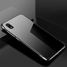 Silikon Schutzhülle Ultra Dünn Tasche Durchsichtig Transparent H01 für Xiaomi Redmi 7A Schwarz