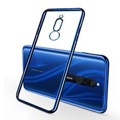 Silikon Schutzhülle Ultra Dünn Tasche Durchsichtig Transparent H01 für Xiaomi Redmi 8 Blau