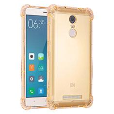 Silikon Schutzhülle Ultra Dünn Tasche Durchsichtig Transparent H01 für Xiaomi Redmi Note 3 MediaTek Gold