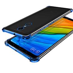 Silikon Schutzhülle Ultra Dünn Tasche Durchsichtig Transparent H01 für Xiaomi Redmi Note 5 Indian Version Blau