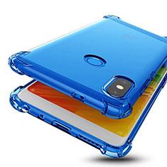 Silikon Schutzhülle Ultra Dünn Tasche Durchsichtig Transparent H01 für Xiaomi Redmi Note 5 Pro Blau