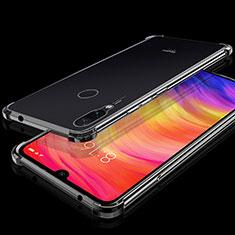 Silikon Schutzhülle Ultra Dünn Tasche Durchsichtig Transparent H01 für Xiaomi Redmi Note 7 Schwarz