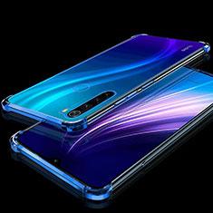Silikon Schutzhülle Ultra Dünn Tasche Durchsichtig Transparent H01 für Xiaomi Redmi Note 8 Blau