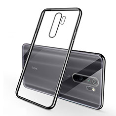 Silikon Schutzhülle Ultra Dünn Tasche Durchsichtig Transparent H01 für Xiaomi Redmi Note 8 Pro Schwarz