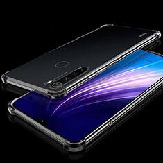 Silikon Schutzhülle Ultra Dünn Tasche Durchsichtig Transparent H01 für Xiaomi Redmi Note 8T Schwarz