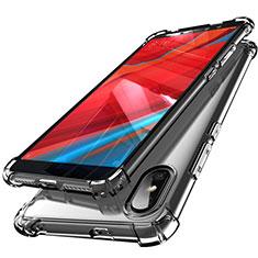 Silikon Schutzhülle Ultra Dünn Tasche Durchsichtig Transparent H01 für Xiaomi Redmi S2 Grau