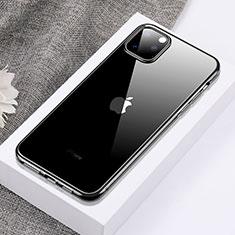 Silikon Schutzhülle Ultra Dünn Tasche Durchsichtig Transparent H02 für Apple iPhone 11 Pro Max Schwarz