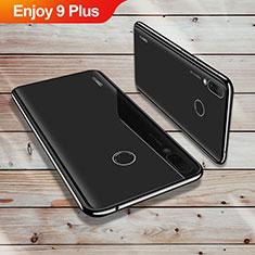 Silikon Schutzhülle Ultra Dünn Tasche Durchsichtig Transparent H02 für Huawei Enjoy 9 Plus Schwarz