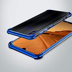 Silikon Schutzhülle Ultra Dünn Tasche Durchsichtig Transparent H02 für Huawei Enjoy Max Blau
