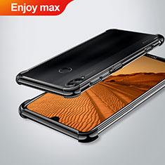 Silikon Schutzhülle Ultra Dünn Tasche Durchsichtig Transparent H02 für Huawei Enjoy Max Schwarz