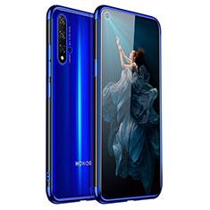 Silikon Schutzhülle Ultra Dünn Tasche Durchsichtig Transparent H02 für Huawei Honor 20 Blau