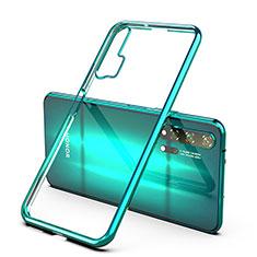 Silikon Schutzhülle Ultra Dünn Tasche Durchsichtig Transparent H02 für Huawei Honor 20 Pro Grün