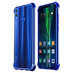 Silikon Schutzhülle Ultra Dünn Tasche Durchsichtig Transparent H02 für Huawei Honor 8X Blau