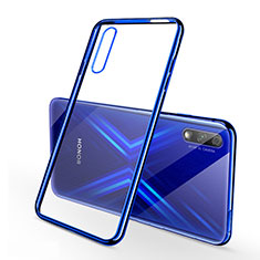 Silikon Schutzhülle Ultra Dünn Tasche Durchsichtig Transparent H02 für Huawei Honor 9X Blau